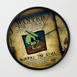 Monkey Island - WANTED! Murray, the Skull Wall Clock