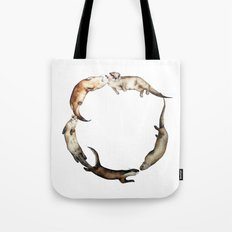 British Otter Wreath Tote Bag