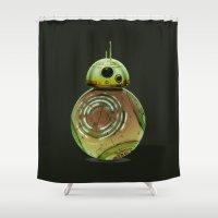 boba fett Shower Curtains featuring BB8 boba fett by Daniac Design
