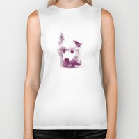 puppy Biker Tanks featuring Puppy by Deliratio