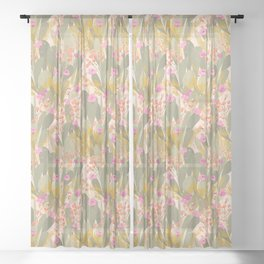 Cactus Garden Sheer Curtain