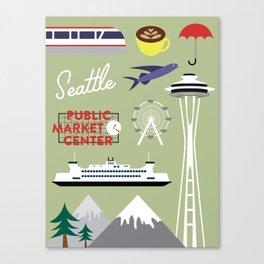 Seattle Art Print Canvas Print
