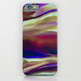 Multicolor Abstract Painting iPhone Case