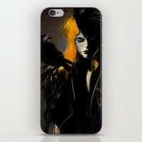 crow iPhone & iPod Skins featuring Crow by Dnzsea