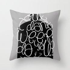 Bluebird - Bukowski Throw Pillow