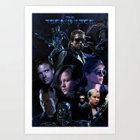 saga Art Prints featuring Terminator Saga by Saint Genesis