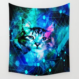 Kitty Cat Laser Lights at the Aleurorave Wall Tapestry