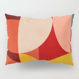 shapes of red mid century art Pillow Sham