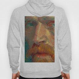 Vincent van Gogh Extreme Close Up of Self Portrait Hoody