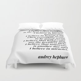 Audrey Hepburn quote Duvet Cover