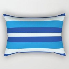 Azure Blue Radiance Stripes Rectangular Pillow