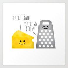 Cheesy Couple Art Print