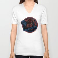 river song V-neck T-shirts featuring Where In Time Is River Song by Kswaiy