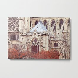 Autumn at Notre Dame de Paris Metal Print