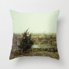 Christmas seaside Throw Pillow