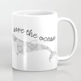 Save The Ocean - Marble Whale Coffee Mug