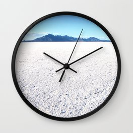 Bonneville Salt Flats, Utah Wall Clock