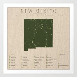 New Mexico Parks Art Print