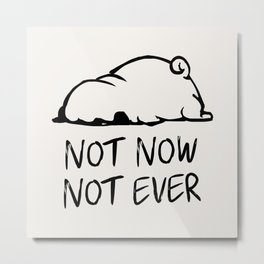 Not Now Not Ever Metal Print