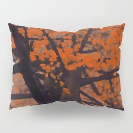 Fall Red Tree Painting Pillow Sham