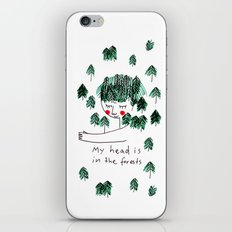 My head is in the forests iPhone & iPod Skin