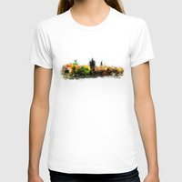 prague T-shirts featuring Prague panorame by jbjart