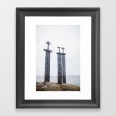 Swords in Rocks, Stavanger Norway/ Sverd i fjell Framed Art Print