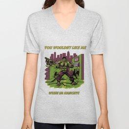 Hangry Hulk Unisex V-Neck