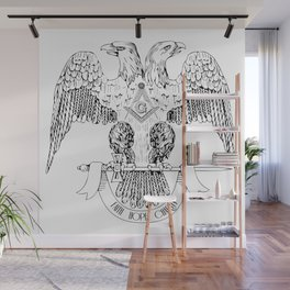 Two-headed eagle as Masonic symbol Wall Mural