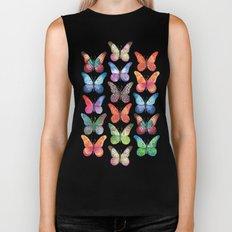 Colorful Butterflies Biker Tank