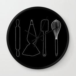 Baker Baking Tools -  Black Wall Clock