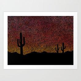 Arizona Drawing Meditation Art Print