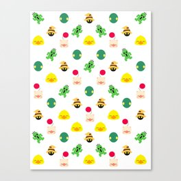 ff pattern mogu choco cactus Canvas Print