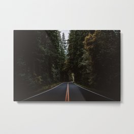 A Lovely Drive through the Forest Metal Print