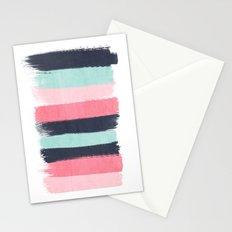 Cecily - abstract paint brush strokes paintbrush brushstrokes boho chic trendy modern minimal  Stationery Cards