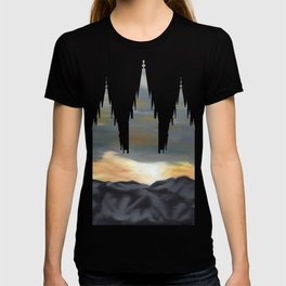 Salt Lake Temple Mountain Dawn Silhouette T-shirt
