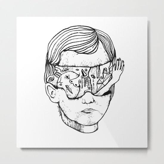 Concussion Metal Print