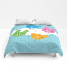 Kawaii Animal Balloons Comforters