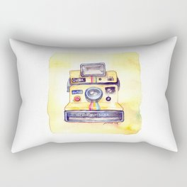 Vintage gadget series: Polaroid OneStep camera Rectangular Pillow