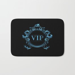 VIP in Blue and Black Bath Mat