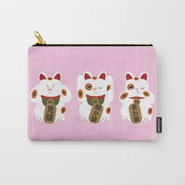See no, hear no, speak no evil 【見猿、聞か猿、言わ猿】 Carry-All Pouch