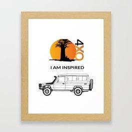 I AM INSPIRED TROOPY Framed Art Print