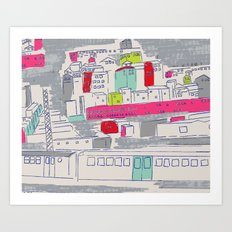 Bright lights City Art Print