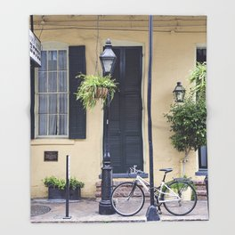 New Orleans Andrew Jackson Bicycle Throw Blanket