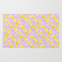 Juicy Lemon Fruits and Flowers Rug