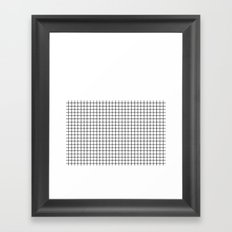 Dotted Grid Black on White Boarder Framed Art Print