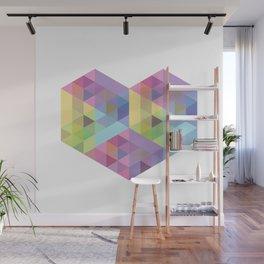 Fig. 028 Geometric Heart Wall Mural