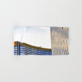 modern buildings with blue at Las Vegas, USA Hand & Bath Towel