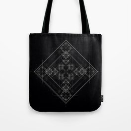 Sacred geometry art, Black and white occult Tote Bag