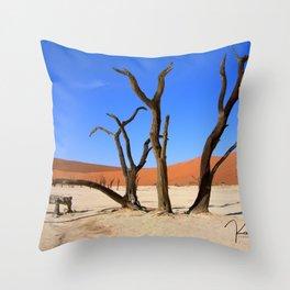 Skeleton tree II Throw Pillow